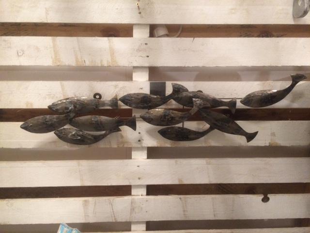 vis armatuur voor aan het hek